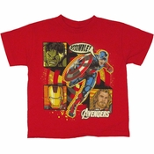Avengers Movie Box Assemble Juvenile T Shirt