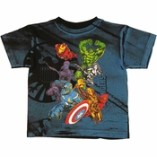 Avengers Movie All Over Juvenile T Shirt