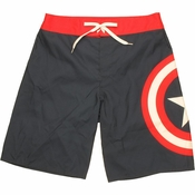 Captain America Logo Shorts