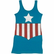 Captain America Costume Tank Top Dress