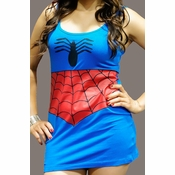 Spider Girl Blue Costume Tank Top Dress
