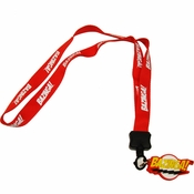 Big Bang Theory Bazinga Red Charm Lanyard