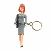 Barbie Flight Attendant Keychain