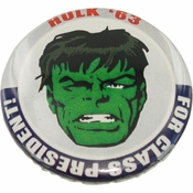 Incredible Hulk President Button