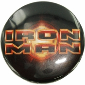 Iron Man Movie Logo Button