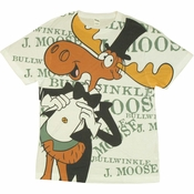 Rocky and Bullwinkle Ritz T Shirt Sheer