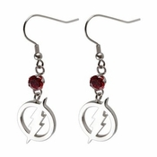 Flash Red Gem Earrings