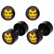 Iron Man Faux Plug Earrings