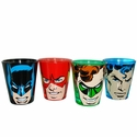 Justice League Faces Shot Glass Set