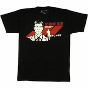 Archer Isis Secret Agent T Shirt Sheer