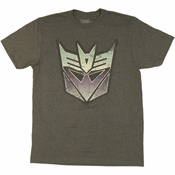 Transformers Vintage Decepticon Logo T Shirt Sheer