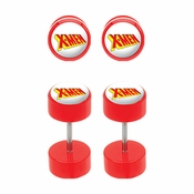 X Men Faux Plug Earrings