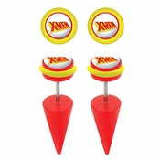 X Men Faux Taper Earrings