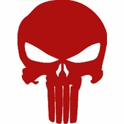 Punisher Small Skull Red Decal