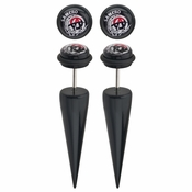 Sons of Anarchy Crystal Ball Faux Taper Earrings
