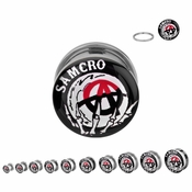 Sons of Anarchy Crystal Ball Steel Plugs