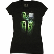 Minecraft Creeper Moon Baby Tee