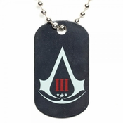 Assassins Creed 3 Logo Dog Tag