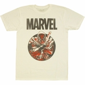 Deadpool Marvel Circle T Shirt Sheer