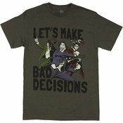 Joker Bad Decisions T Shirt