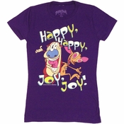 Ren and Stimpy Happy Joy Baby Tee
