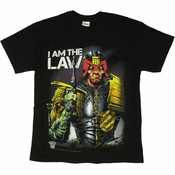 Judge Dredd I Am Law Black T Shirt