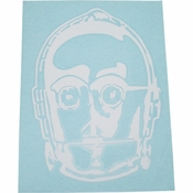 Star Wars C-3PO Head White Decal