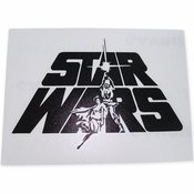 Star Wars Duo Logo Black Decal