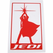 Star Wars Jedi Silhouette Red Decal