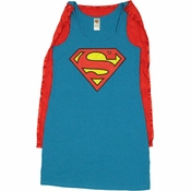 Superman Costume Tank Top Dress