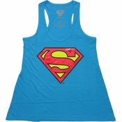 Superman Foil Logo Tank Top Ladies Tee