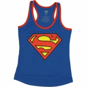 Superman Logo Ringer Tank Top Baby Tee