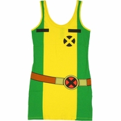 X Men Rogue Costume Tank Top Dress