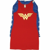 Wonder Woman Costume Tank Top Dress