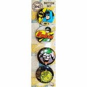 Batman Heroes Villains Button Set