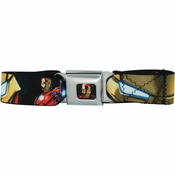 Iron Man Poses Seatbelt Mesh Belt