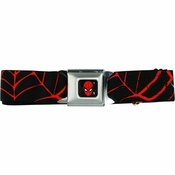 Spiderman Web Seatbelt Mesh Belt