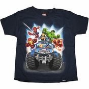 Marvel Hero Squad Monster Truck Juvenile T Shirt