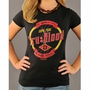 True Blood Label Baby Tee