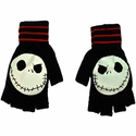 Nightmare Before Christmas Red Stripe Gloves
