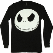 Nightmare Before Christmas Jack Thermal Long Sleeve T Shirt