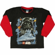 Star Wars Lego Dark Side Long Sleeve Juvenile T Shirt