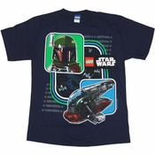 Star Wars Lego Boba Ship Youth T Shirt