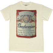 Budweiser Full Label T Shirt