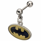 Batman Oval Logo Dangle Cartilage Earring