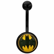 Batman Round Logo Belly Ring