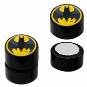Batman Round Logo Faux Plug Magnetic Earrings