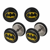 Batman Oval Logo Faux Plug Earrings