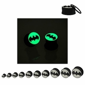Batman Glow Logo Acrylic Plugs