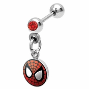 Spiderman Red Gem Cartilage Earring